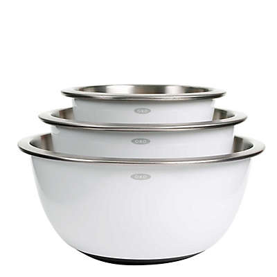 OXO Good Grips® 3-Piece Stainless Steel Mixing Bowl Set