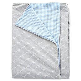 Glenna Jean Starlight Reversible Duvet Cover in Grey/Blue/White