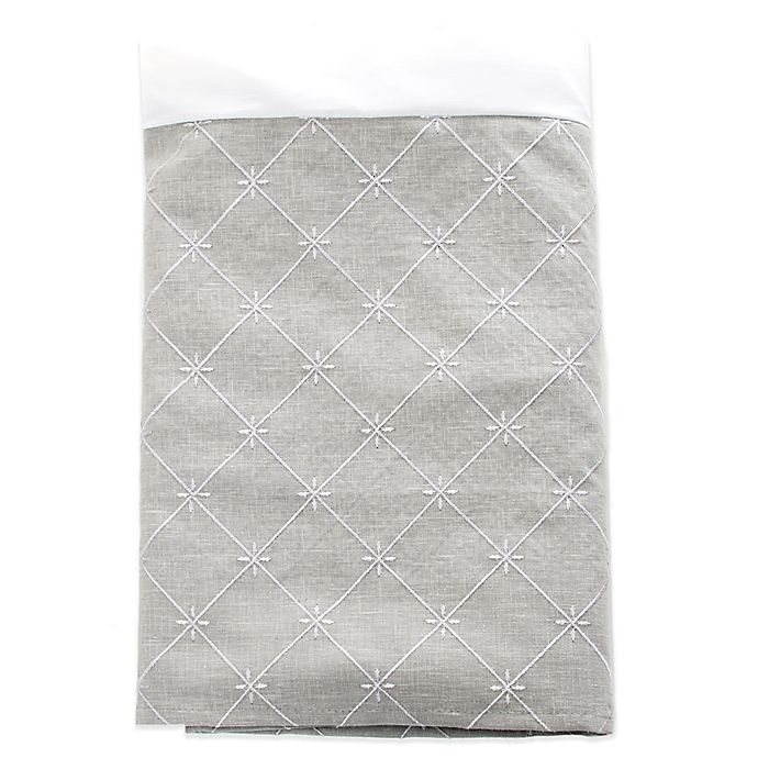 Alternate image 1 for Glenna Jean Starlight Embroidered Twin Bed Skirt in Grey