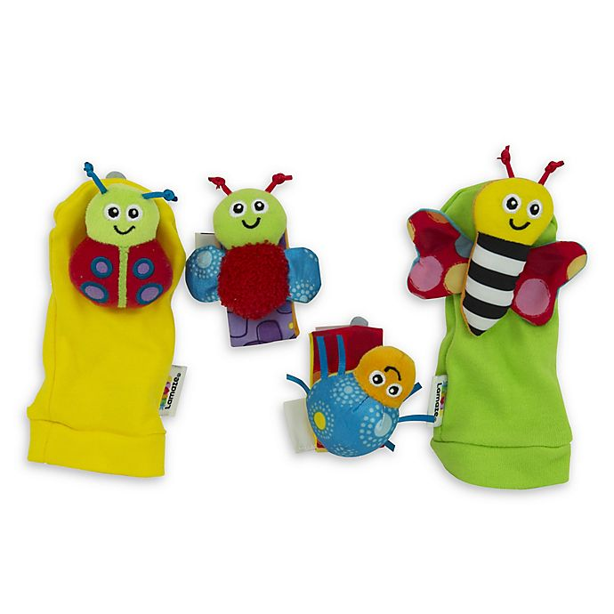 Alternate image 1 for Lamaze® Gardenbug 4-Piece Foot Finder and Wrist Rattle Set