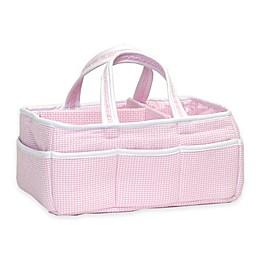 Trend Lab® Diaper Caddy in Pink Gingham Seersucker