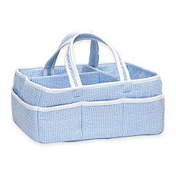 Trend Lab® Diaper Caddy in Blue Gingham Seersucker