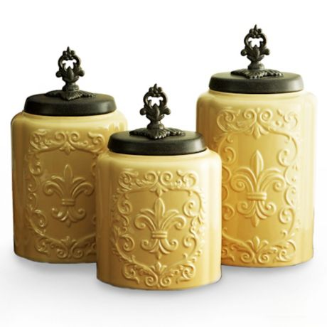 American Atelier 3 Piece Antique Canister Set Bed Bath Beyond