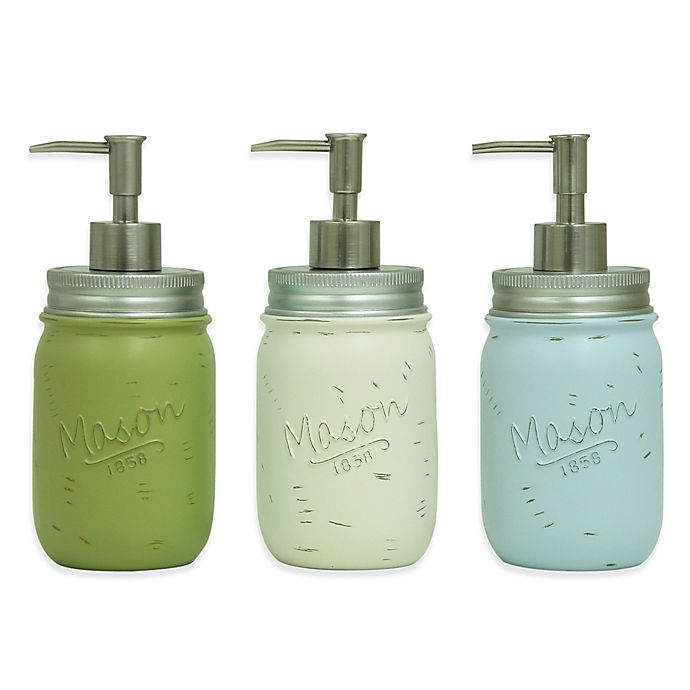 Bacova Resin Mason Jar Kitchen Dish Soap Dispenser | Bed ...
