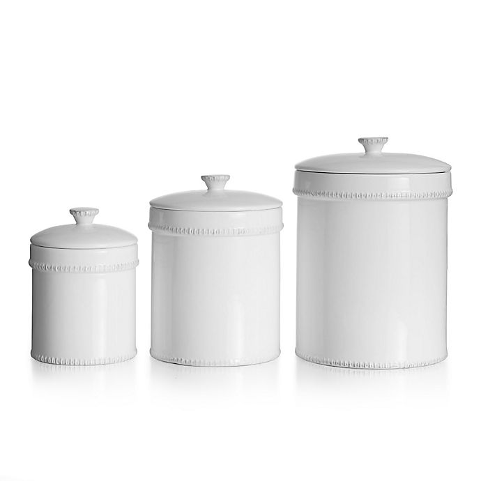Alternate image 1 for American Atelier 3-Piece Bianca Canister Set in White