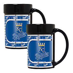 MLB Kansas City Royals Metallic Coffee Mugs (Set of 2)