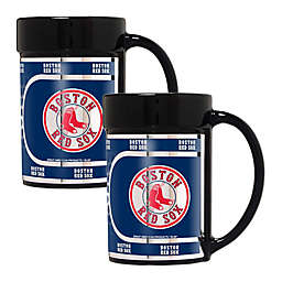 MLB Boston Red Sox Metallic Coffee Mugs (Set of 2)