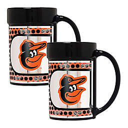 MLB Baltimore Orioles Metallic Coffee Mugs (Set of 2)