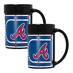 MLB Atlanta Braves Metallic Coffee Mugs (Set of 2)
