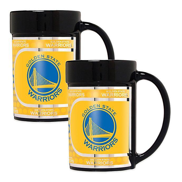 a7f578d8e35 NBA Golden State Warriors Metallic Coffee Mugs (Set of 2) | Bed Bath ...