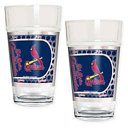 MLB St. Louis Cardinals Metallic Pint Glass (Set of 2)