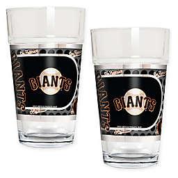 MLB San Francisco Giants Metallic Pint Glass (Set of 2)