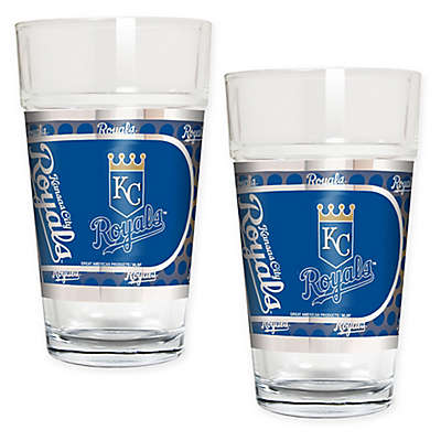 MLB Kansas City Royals Metallic Pint Glass (Set of 2)