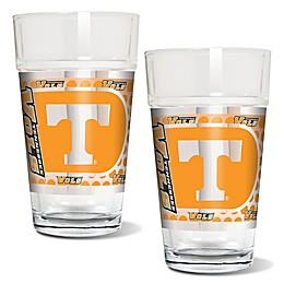 University of Tennessee Metallic Pint Glass (Set of 2)