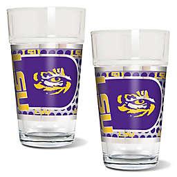 Louisiana State University Metallic Pint Glass (Set of 2)