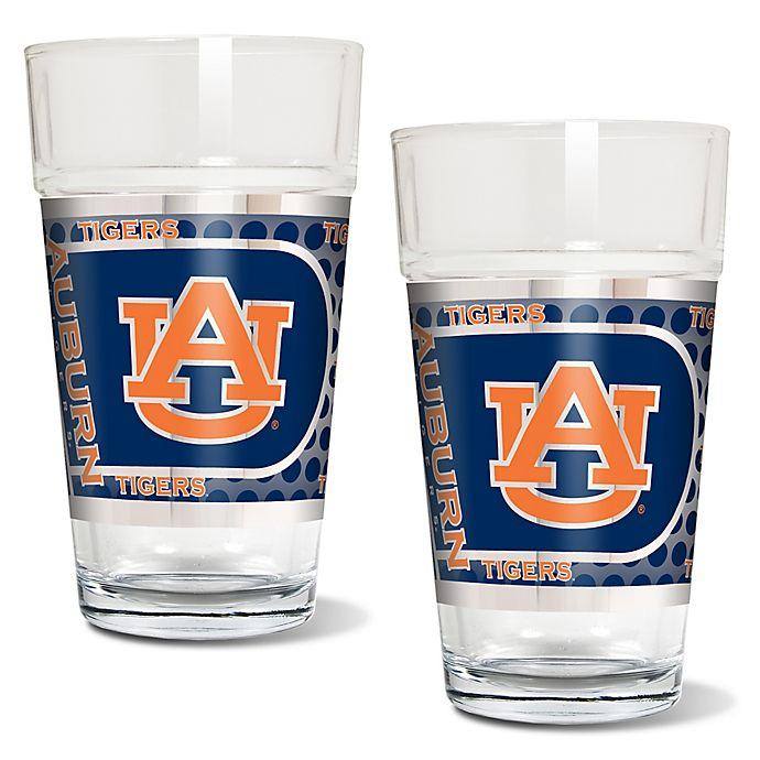 Alternate image 1 for Auburn University Metallic Pint Glass (Set of 2)