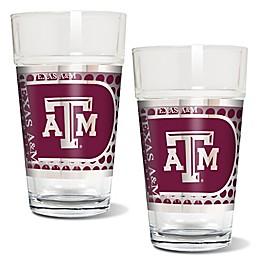 Texas A&M University Metallic Pint Glass (Set of 2)