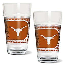 University of Texas Metallic Pint Glass (Set of 2)