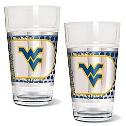 West Virginia University Metallic Pint Glass (Set of 2)
