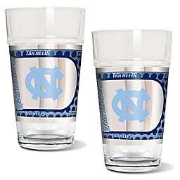 University of North Carolina Metallic Pint Glass (Set of 2)