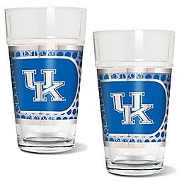 University of Kentucky Metallic Pint Glass (Set of 2)