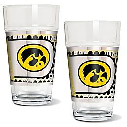 University of Iowa Metallic Pint Glass (Set of 2)