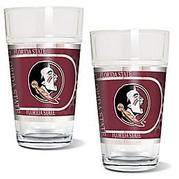 Florida State University Metallic Pint Glass (Set of 2)
