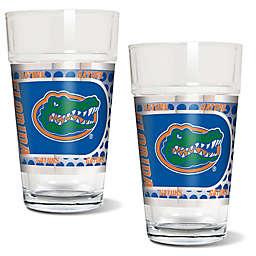 University of Florida Metallic Pint Glass (Set of 2)