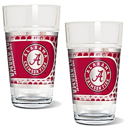 University of Alabama Metallic Pint Glass (Set of 2)