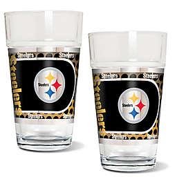 NFL Pittsburgh Steelers Metallic Pint Glass (Set of 2)