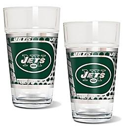 NFL Metallic Pint Glass (Set of 2)