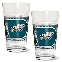 NFL Philadelphia Eagles Metallic Pint Glass (Set of 2)