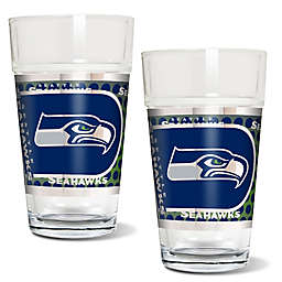 NFL Seattle Seahawks Metallic Pint Glass (Set of 2)