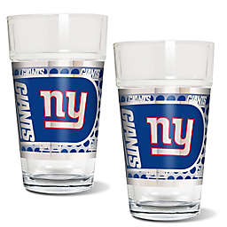 NFL New York Giants Metallic Pint Glass (Set of 2)