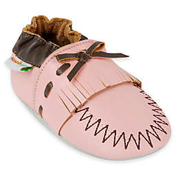 MomoBaby Leather Soft Sole Shoe in Pink