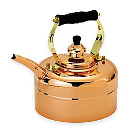 Old Dutch International 3 qt. Tea Kettle in Copper with Wood Handle