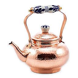 Old Dutch International 2 qt. Tea Kettle in Copper with Ceramic Handle/Knob