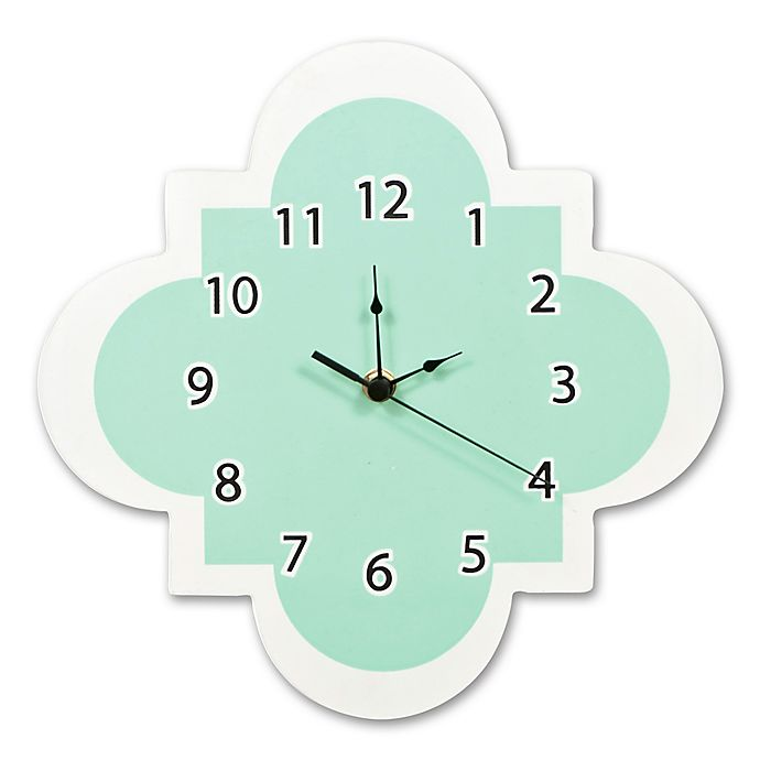 Trend Lab 174 Quatrefoil Wall Clock In Mint Bed Bath Amp Beyond
