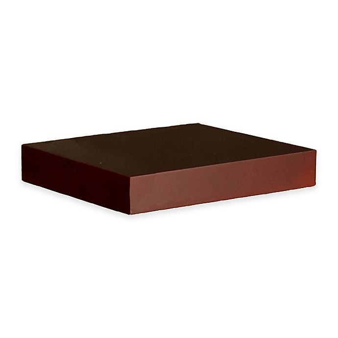 Alternate image 1 for Southern Enterprises Chicago 10-Inch Floating Shelf in Chocolate
