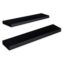 Southern Enterprises Chicago Floating Shelf in Black