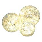 LED Crackle Glass Spheres (Set of 3)