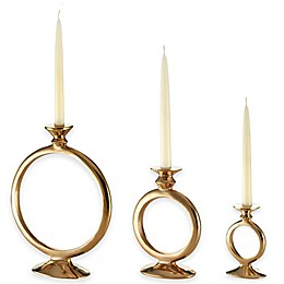 Lunares™ Totem O Candle Holder in Gold