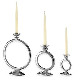 Lunares™ Totem O Candle Holder in Silver