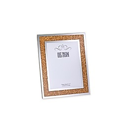 Oleg Cassini Crystal Diamond Gold 5-Inch x 7-Inch Picture Frame