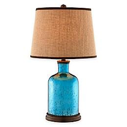 Stein World Havasu Mercury Glass Table Lamp in Azure Blue