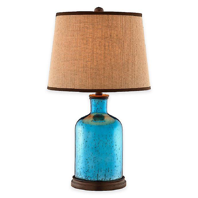 Stein World Havasu Mercury Glass Table Lamp In Azure Blue Bed Bath