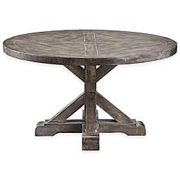Stein World Bridgeport Round Cocktail Table in Weathered Grey