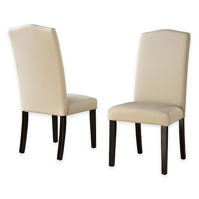 Camden Linen Parsons Dining Chairs With Slipcovers (Set Of