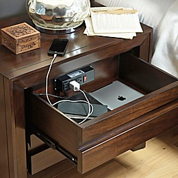 Element Charging Nightstand in Chocolate Brown
