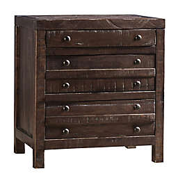 Modus Furniture Townsend 3-Drawer Solid Wood Nightstand in Java